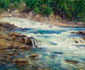 Fine Art - Painting, American:Contemporary   (1950 to present)  , ROBERT HOGG NISBET (American, 1879-1961). Ten Mile River.Oil on board. 19-1/2 x 24 inches (49.5 x 61.0 cm). Signed lowe...