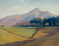 Fine Art - Painting, American:Modern  (1900 1949)  , CLARA GREENLEAF PERRY (American, 1871-1960). Between St. Jean deLuz and Hendaye, 1932. Oil on board. 14-1/2 x 18-1/4 in...