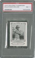 Golf Cards:General, 1926 Spalding Champions Willie MacFarlane PSA NM 7....