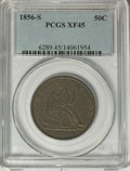 Seated Half Dollars: , 1856-S 50C XF45 PCGS. PCGS Population (8/24). NGC Census: (2/14).Mintage: 211,000. Numismedia Wsl. Price for NGC/PCGS coin...