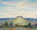 Texas:Early Texas Art - Regionalists, FLORENCE ELLIOTT MCCLUNG (American, 1896-1994). Volcanic Cone atFort Davis, Texas, 1930. Oil on artist's board. 16 x 19...