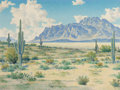 Paintings, LEWIS TEEL (American, 1883-1960). Desert Landscape. Oil on board. 21 x 28 inches (53.3 x 71.1 cm). Signed lower left: ...