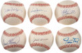 Autographs:Baseballs, 500 Home Run Club Single Signed Baseballs Lot of 6. ... (Total: 6items)