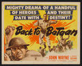 "Movie Posters:War, Back to Bataan (RKO, 1945). Title Lobby Card (11"" X 14""). War.. ..."