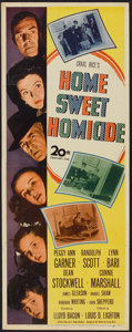 """Movie Posters:Comedy, Home Sweet Homicide (20th Century Fox, 1945). Insert (14"""" X 36""""). Comedy.. ..."""