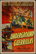 "Movie Posters:War, Underground Guerrillas (Columbia, 1944). One Sheet (27"" X 41"").War.. ..."