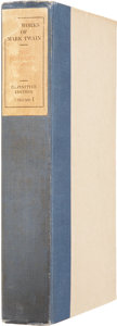Books:Signed Editions, Mark Twain. The Writings of Mark Twain, Definitive Edition.New York: Gabriel Wells, 1922....