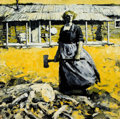 Paintings, FRANK B. HOFFMAN (American, 1888-1958). The Homesteader. Oil on canvas. 34 x 34 inches (86.4 x 86.4 cm). Signed lower ri...