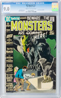 Bronze Age (1970-1979):Horror, DC Special #11 Monsters (DC, 1971) CGC VF/NM 9.0 Cream to off-whitepages....