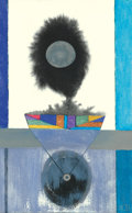 Texas, BILL BOMAR (American, 1919-1991). Orb Gradations. Mixedmedia on paper. 11 x 7-1/4 inches (27.9 x 18.4 cm). Initialed lo...