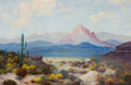 Texas:Early Texas Art - Modernists, WILLIAM FREDERICK JARVIS (American, 1898-1966). Landscape withCactus. Oil on canvas. 24 x 36 inches (61.0 x 91.4 cm). S...