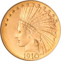 Indian Eagles, 1910-D $10 MS66 NGC....