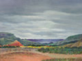 Texas:Early Texas Art - Regionalists, BEN CARLTON MEAD (American, 1902-1986). Storm over PaloDuro. Oil on masonite. 16-1/4 x 22 inches (41.3 x 55.9 cm).Sign...