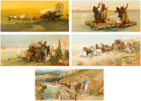 OSCAR EDWARD BERNINGHAUS (American, 1874-1952) and CARL WIMAR (American, 1828-1862) A Complete Set of Anheus