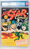 Golden Age (1938-1955):Superhero, All Star Comics #6 (DC, 1941) CGC VF/NM 9.0 White pages....