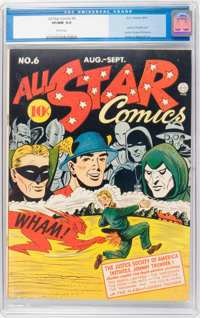 All Star Comics #6 (DC, 1941) CGC VF/NM 9.0 White pages