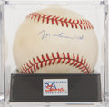 Autographs:Baseballs, Muhammad Ali Single Signed Baseball PSA EX-MT+ 6.5....