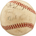Autographs:Baseballs, Circa 1935 Babe Ruth Single Signed Baseball....