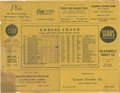 Basketball Collectibles:Others, Wilt Chamberlain Kansas Lineup Card And Professional Debut Newspaper...