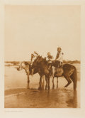 Photographs, EDWARD SHERIFF CURTIS (American, 1868-1952). On the Canadian River, Plate 659, 1927. Photogravure. Paper: 18 x 14 inches...