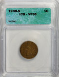 Indian Cents: , 1909-S 1C VF30 ICG. PCGS Population (195/904). Mintage: 309,000.Numismedia Wsl. Price for NGC/PCGS coin...