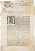 Autographs:Non-American, Monterrey, New Spain Broadside Printed on Revenue Stamped Paper:Edict Regarding Payment of Taxes on Mulatto and Freed Black L...