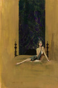 Paintings, RON LESSER (American, 20th Century). The Mistress, Carter Brownpaperback cover, 1965. Gouache on board. 15 x 22 in.. Si...