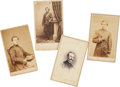 Photography:CDVs, Group of Cartes De Visite Including Identified Massachusetts Officer.... (Total: 4 Items)