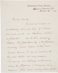 Autographs:Military Figures, Brigadier General Samuel W. Crawford: Important Autograph LetterSigned and Dated November 16, 1863....