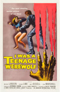 "Movie Posters:Horror, I was a Teenage Werewolf (American International, 1957). One Sheet(27"" X 41"").. ..."