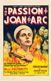 """The Passion of Joan of Arc (Gaumont, 1928). One Sheet (27"""" X 41"""")"""
