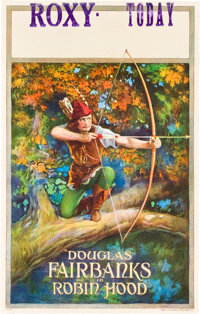 "Robin Hood (United Artists, 1922). Window Card (14"" X 22"")"