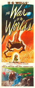 """Movie Posters:Science Fiction, The War of the Worlds (Paramount, 1953). Insert (14"""" X 36"""").. ..."""