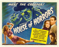 "Movie Posters:Horror, House of Horrors (Universal, 1946). Half Sheet (22"" X 28"").. ..."