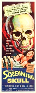 "Movie Posters:Horror, Screaming Skull (American International, 1958). Insert (14"" X36"").. ..."