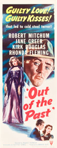 """Movie Posters:Film Noir, Out of the Past (RKO, R-1953). Insert (14"""" X 36"""").. ..."""