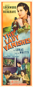 "Movie Posters:Hitchcock, The Lady Vanishes (Gaumont, 1938). Insert (14"" X 36"").. ..."