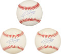 Autographs:Baseballs, Frank Thomas Single Signed Baseballs Lot of 3. ... (Total: 3 items)