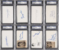 Autographs:Index Cards, Baseball Signed Index Card Group Lot (25) PSA/DNA Certified Authentic....