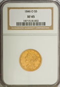 Liberty Half Eagles: , 1846-O $5 XF45 NGC. NGC Census: (40/78). PCGS Population (14/36).Mintage: 58,000. Numismedia Wsl. Price for NGC/PCGS coin ...