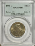 Susan B. Anthony Dollars: , 1979-D SBA$ MS67 PCGS. PCGS Population (104/0). NGC Census: (67/1).Mintage: 288,015,744. Numi...