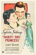 "Movie Posters:Comedy, Thirty Day Princess (Paramount, 1934). One Sheet (27"" X 41"").. ..."