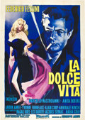 "Movie Posters:Drama, La Dolce Vita (Cineriz, 1959). Italian 4 - Folio (55"" X 78"").. ..."