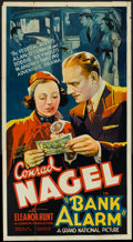 "Movie Posters:Drama, Bank Alarm (Grand National, 1937). Three Sheet (41"" X 81""). Drama.. ..."
