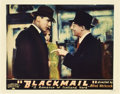 "Movie Posters:Hitchcock, Blackmail (Sono Art-Worldwide Pictures, 1929). Lobby Card (11"" X 14"").. ..."