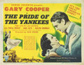 "Movie Posters:Sports, The Pride of the Yankees (RKO, 1942). Title Lobby Card (11"" X 14"").. ..."