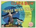 "Movie Posters:Comedy, Three Week Ends (Paramount, 1928). Title Lobby Card (11"" X 14"")....."