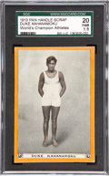 Miscellaneous Collectibles:General, 1913 Pan Handle Scrap Duke Kahanamoku SGC 20 Fair 1.5....