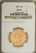 Liberty Eagles: , 1856 $10 AU53 NGC. NGC Census: (35/171). PCGS Population (16/59). Mintage: 60,490. Numismedia Wsl. Price for NGC/PCGS coin ...