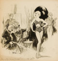 Mainstream Illustration, RAEBURN VAN BUREN (American, 1891-1987). Planing Their SummerCampaign, magazine story illustration, 1934. Charcoal on b...